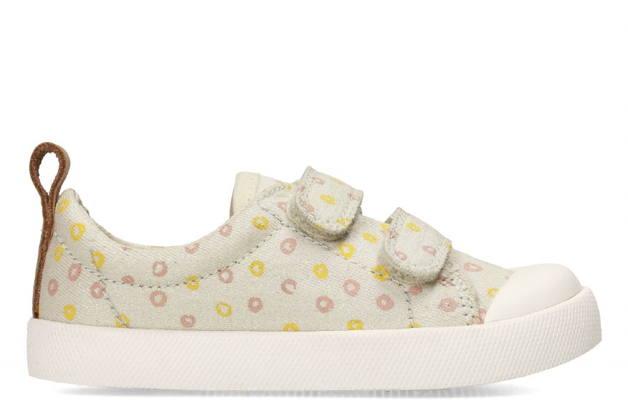 Clarks 'Halcy Hati' Girls Canvas Shoes