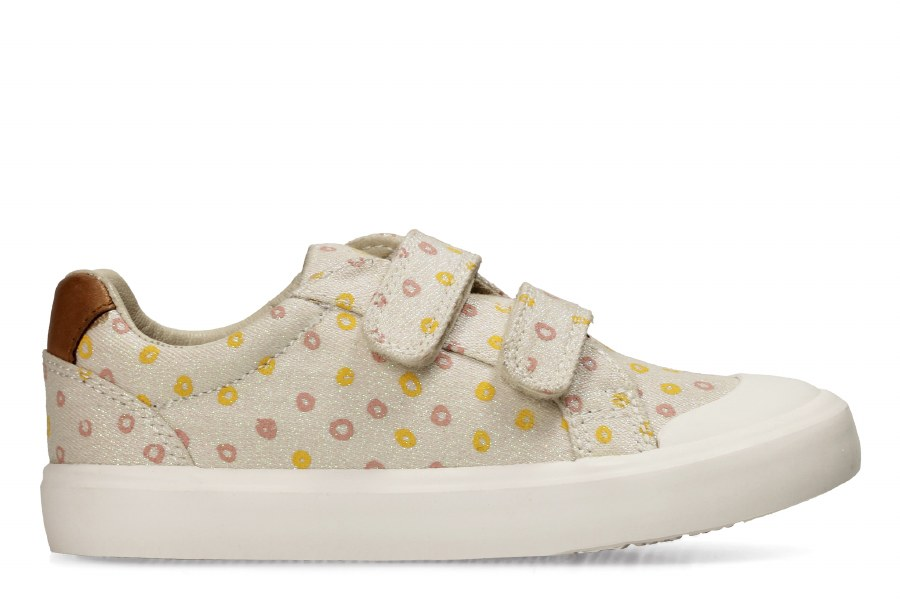 Clarks 'Comic Cool' Girls Canvas Shoes