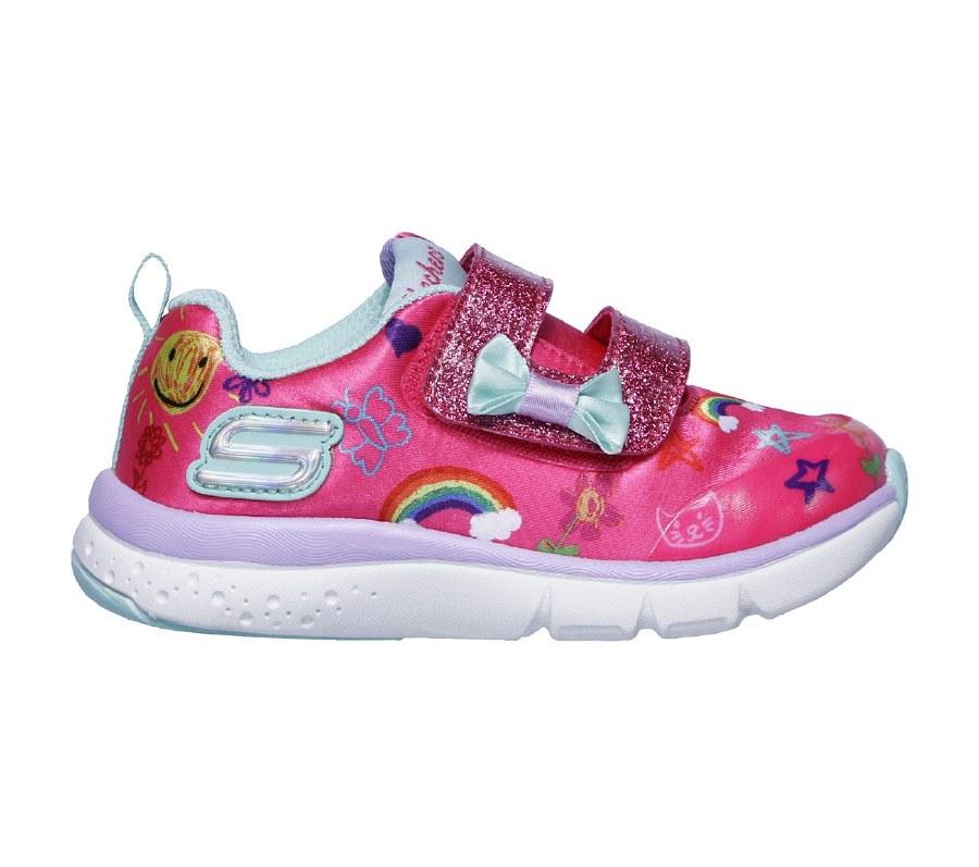 Skechers 'Jump Lites' Girls Shoes (Pink