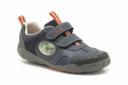 Electricista Médula prometedor  Clarks 'StompoJaw Inf' Boys Shoes (Navy) - Hand Footwear Ltd
