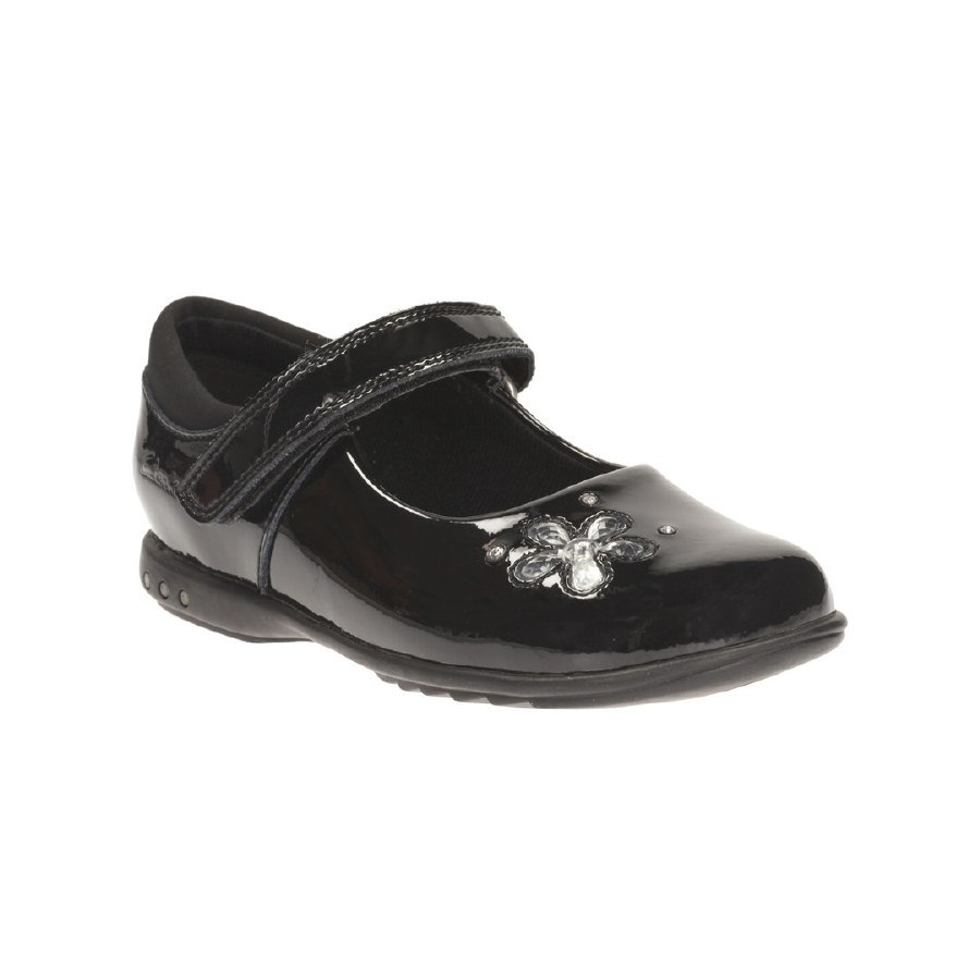 delincuencia Extracto fantasma  Clarks 'TrixiCandy Inf' Girls School Shoes (Black Patent) - Hand Footwear  Ltd