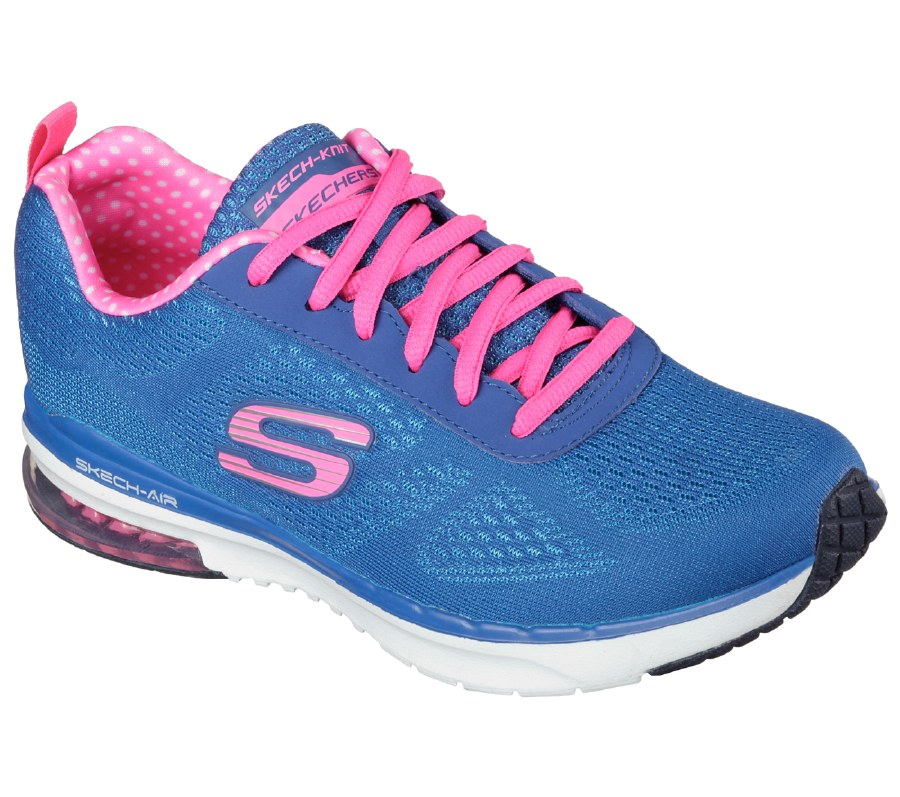 factory outlets in stock hot new products Skechers 'Skech-Air Infinity' Ladies Sport Shoe (Blue/Pink)