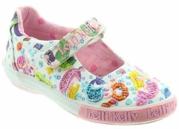 Lelli Kelly '5058 Mermaid' Girls Shoes (White Multi)
