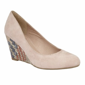 Lotus 'Trinity' Ladies Wedge Shoes (Sand)