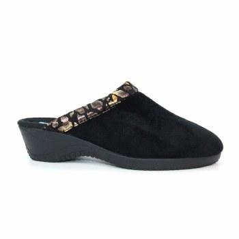 Lunar 'Mariah' Ladies Slippers (Black)