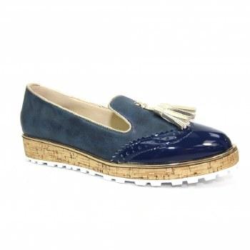 Lunar 'Michaela' Ladies Shoes (Navy)
