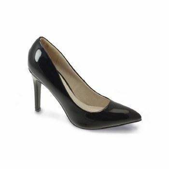 Lunar 'Powell' Ladies Heels (Black Patent)