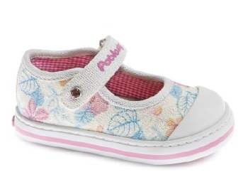 Pablosky '961400' Girls Shoes (Cream Glitter)