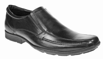 Pod 'Shetland JX' Leather Boy's Shoe (Black)