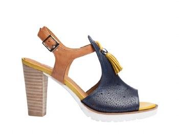 Regarde Le Ciel 'Sylvie' Ladies Sandals (Navy Multi)