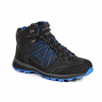Regatta 'Samaris II' Waterproof Boots (Black/Blue)