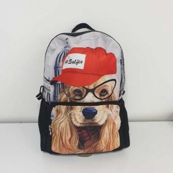 Ridge 53 'Doggy' Childrens Schoolbag (Black/Red)
