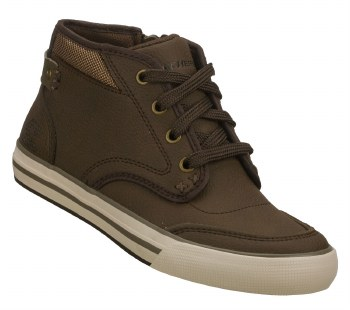 Skechers 'Planfix-Effective' High Top Sneakers (Brown)