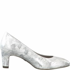 Tamaris '22418' Ladies Heels (White Metallic)
