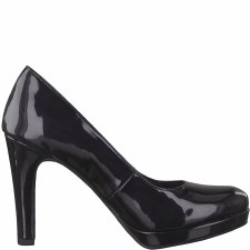 Tamaris '22426' Ladies Court Shoe (Navy Patent)