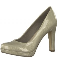 Tamaris '22426' Ladies Court Shoe (Beige Metallic)