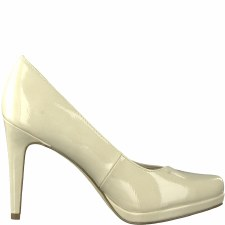 Tamaris '22446' Ladies Heels (Cream Patent)