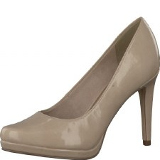 Tamaris '22448' Ladies Heels (Cream Patent)