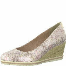 Tamaris '22449' Ladies Wedge Shoes (Rose Floral)