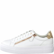 Tamaris '23312' Ladies Shoes (White/Rose)