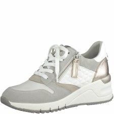 Tamaris '23702' Ladies Shoes (White Combi)