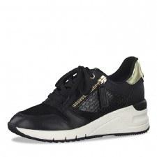 Tamaris '23702' Ladies Shoes (Black/Gold)