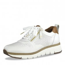 Tamaris '23703' Ladies Trainers (White/Cognac)