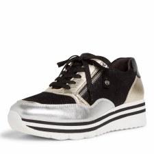 Tamaris '23707' Ladies Shoes (Black/Silver)