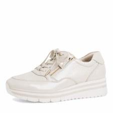 Tamaris '23707' Ladies Shoes (Ivory Patent)