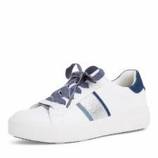Tamaris '23750' Ladies Shoes (White/Jeans)
