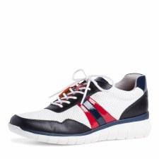 Tamaris '23792' Ladies Shoes (White/Navy)