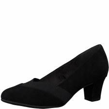 Soft Line '22465' Wide Ladies Heels (Black)