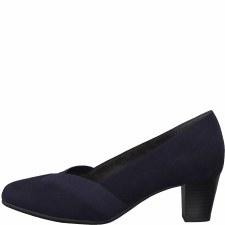 Soft Line '22465' Wide Ladies Heels (Navy)