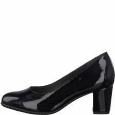 Soft Line '22469' Wide Ladies Heels (Black)