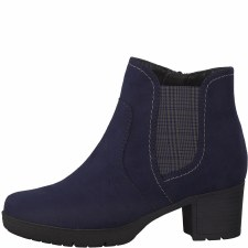 Jana '25469' Ladies Wide Ankle Boots (Navy)