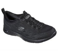 Skechers 'Arch Fit Refine' Ladies Shoes (Black)