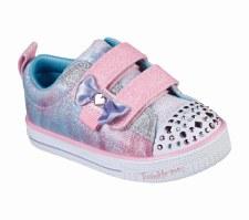 Skechers 'Twinkle Toes: Twinkle Lites - Sweet Supply' Girls Shoes (Pink Multi)