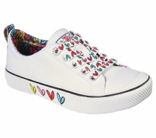Skechers 'B Wild - Love Only' Ladies Shoes (White Multi)