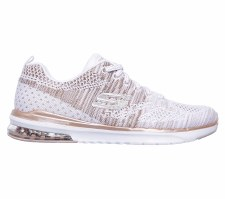 Skechers 'SkechAir Infinity - Stand' Ladies Trainers (White/Gold)