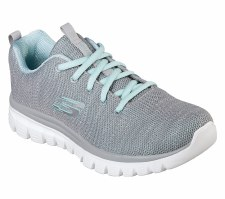 Skechers 'Graceful - Twisted Fortune' Ladies Trainers (Grey Multi)