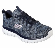 Skechers 'Graceful - Twisted Fortune' Ladies Trainers (Navy Multi)