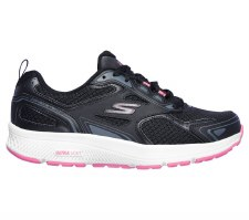 Skechers 'GOrun Consistent' Ladies Trainers (Black/Pink)