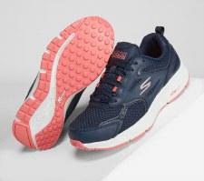 Skechers 'GOrun Consistent' Ladies Trainers (Navy/Pink)