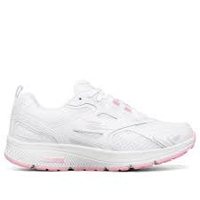 Skechers 'GOrun Consistent' Ladies Trainers (White/Pink)