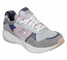 Skechers 'Meridian - Charted' Ladies Trainers (Grey/Pink)