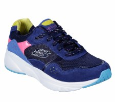 Skechers 'Meridian - No Worries' Ladies Trainers (Navy Multi)