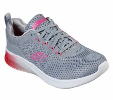 Skechers 'Skech-Air Ultra Flex' Ladies Trainers (Grey/Pink)