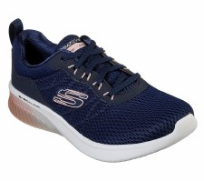 Skechers 'Skech-Air Ultra Flex' Ladies Trainers (Navy/Pink)
