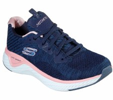 Skechers 'Solar Fuse - Brisk' Ladies Trainers (Navy/Pink)