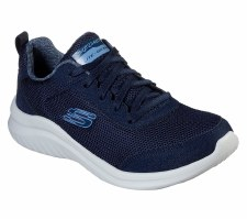 Skechers 'Ultra Flex 2.0 - Sparkling Joy' Ladies Trainers (Navy)